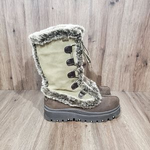 Skechers Womens Suede Leather Winter Boots